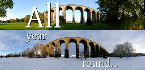 Penistone Viaduct in the summer and winter