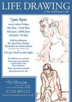 Life Drawing at the Art House Café in Penistone
